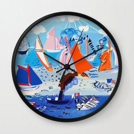 Regatta by Raoul Dufy Wall Clock