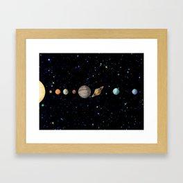 Planetary Solar System Framed Art Print
