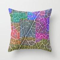 leaf Throw Pillows featuring Leaf  by Latidra Washington