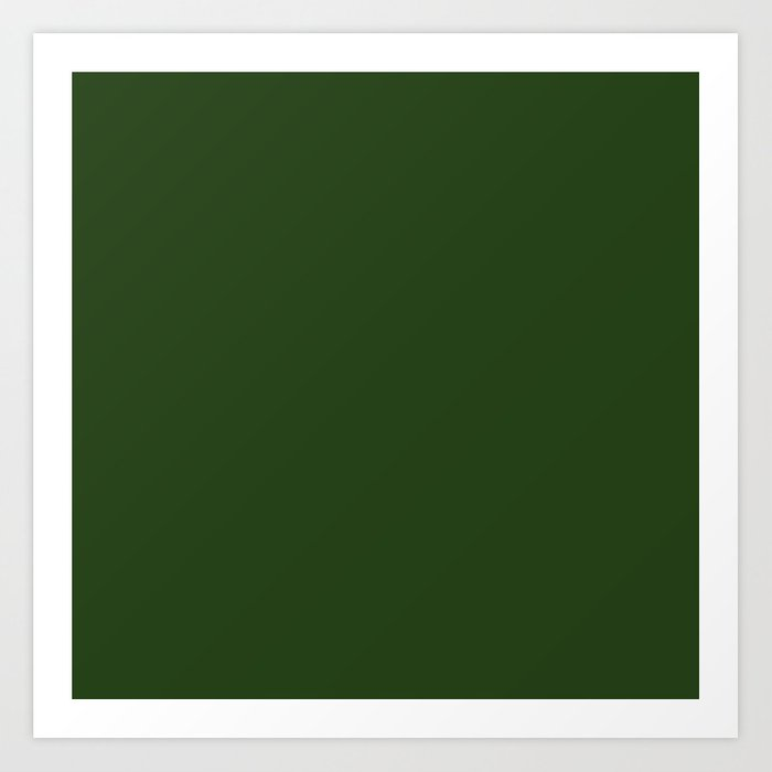 Solid Dark Forest Green Simple Color All Over Print Art