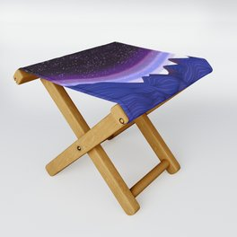 Mountains in Space Folding Stool