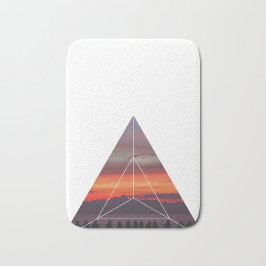 Good Friends and Sunset - Geometric Photography Bath Mat