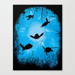 Turtle World Canvas Print