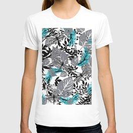 PALM LEAF DRAGONFLY BLUE FERN TOILE T-shirt
