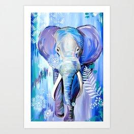 Boho Elephant Art Print