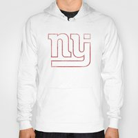 new jersey Hoodies featuring New Jersey Football Giants by CS_Kennedy