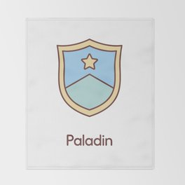 Cute Dungeons and Dragons Paladin class Throw Blanket