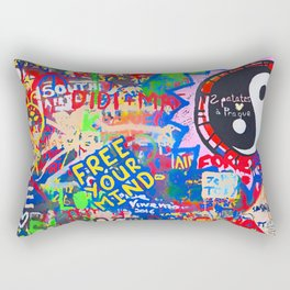 In the street No5, Messages Rectangular Pillow