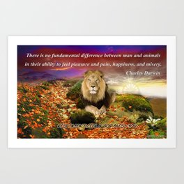 In Memory of Cecil The Lion Art Print