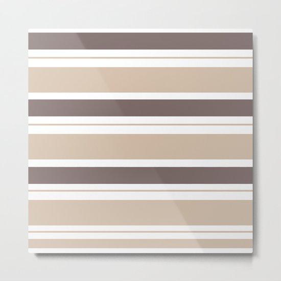 Caffeinated Tones Horizontal Striped Metal Print