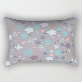 Rustic illustration flowers and clouds Rectangular Pillow