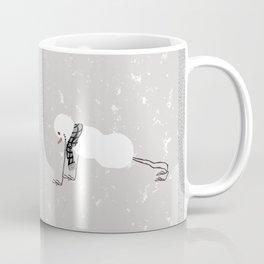 Snowman yoga - Planck Coffee Mug