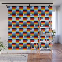 Mix of flag : Germany and greece Wall Mural