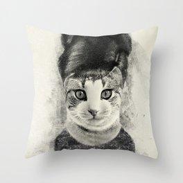 audrey cat Throw Pillow