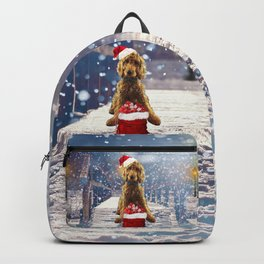 Christmas Golden Doodle Backpack
