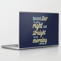 peter pan Laptop & iPad Skins featuring Peter Pan Quote by Rosaura Grant