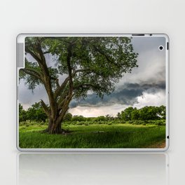 Big Tree - Tall Cottonwood and Passing Storm in Texas Laptop & iPad Skin