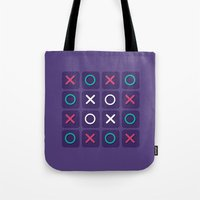 game Tote Bags featuring Game by Sobhani