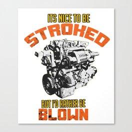 Mechanic Motor Engine Garage Worker Workshop Gift Canvas Print