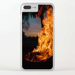 Slow Roast Clear iPhone Case