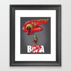 BobAkira (red with white text) Framed Art Print