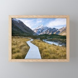 Mt.Cook New Zealand - A hikers dream Framed Mini Art Print