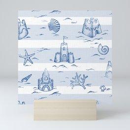 Sandcastle Stripes_Pattern Mini Art Print