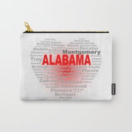 Alabama Heart Carry-All Pouch