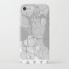 Seattle Map Line Slim Case iPhone 7