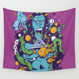 Triangle Ape Wall Tapestry