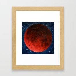 Blood Moon  Framed Art Print