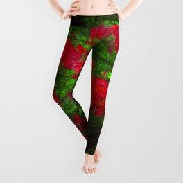 Colorful flower bush Leggings