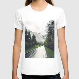 Down the Road - Mountains, Forest, Austria T-shirt