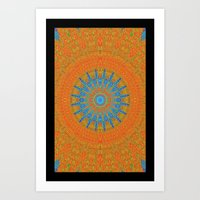 rug Art Prints featuring rug by Kathead Tarot/David Rivera