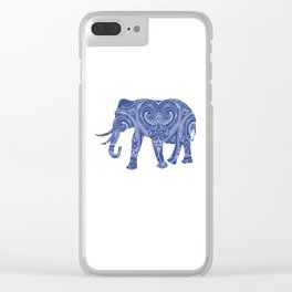 Blue Elephant Clear iPhone Case