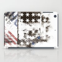 flag iPad Cases featuring FLAG by TOO MANY GRAPHIX