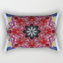 Red and blue classic trucks kaleidoscope Rectangular Pillow