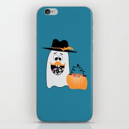 Silly Halloween Ghost Wants Your Candy iPhone Skin