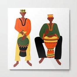 AFRICAN MUSICIANS Metal Print