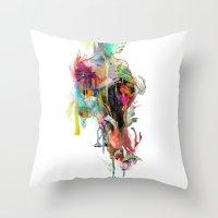 archan nair Throw Pillows featuring Far Away by Archan Nair