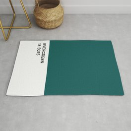 Evergreen • Paint Chip • Pantone Inspired • Cool Tones • Fresh • Forest Rug