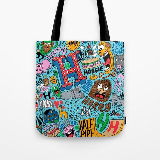 H Pattern Tote Bag