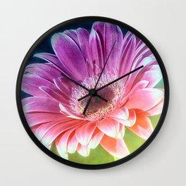 The Gerbera Rainbow Wall Clock