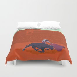 España - Spanish Bullfighting Classic Travel Poster Duvet Cover