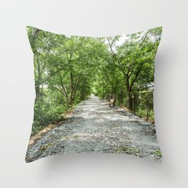 The Solemn Path, Killing Fields, Cambodia Throw Pillow