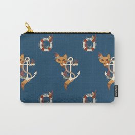 Fox and Anchor  Carry-All Pouch