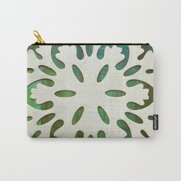Snowflake on Wood Carry-All Pouch