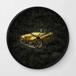 Yellow Oldtimer Wall Clock