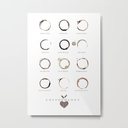 Coffee Stains Metal Print