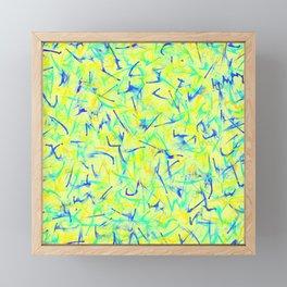 Electric Lemon Zing Framed Mini Art Print